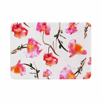 Danii Pollehn Springflower Painting Memory Foam Bath Rug Size: 0.5 H x 24 W x 36 D