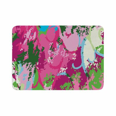 Empire Ruhl Spring Frolic Abstract Memory Foam Bath Rug Size: 0.5 H x 17 W x 24 D