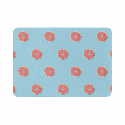 Busy Bree Donut Dreams Coral Food Memory Foam Bath Rug Size: 0.5 H x 24 W x 36 D