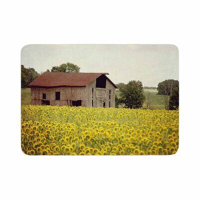 Angie Turner Field of Sunflowers Memory Foam Bath Rug Size: 0.5 H x 24 W x 36 D
