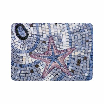 Debbra Obertanec Mosaic Starfish Nautical Memory Foam Bath Rug Size: 0.5 H x 24 W x 36 D