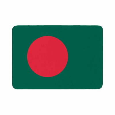 Bruce Stanfield Flag of Bangladesh Digital Memory Foam Bath Rug Size: 0.5 H x 17 W x 24 D