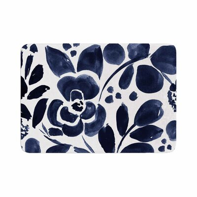 Crystal Walen Watercolor Floral Painting Memory Foam Bath Rug Size: 0.5 H x 17 W x 24 D