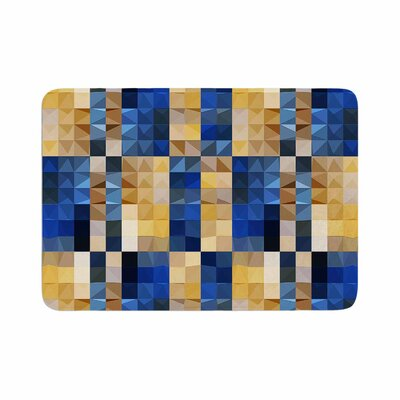 Dawid Roc New Stripes Mosaic Memory Foam Bath Rug Size: 0.5 H x 17 W x 24 D