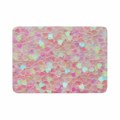 Debbra Obertanec Hearts Galore Love Memory Foam Bath Rug Size: 0.5 H x 17 W x 24 D