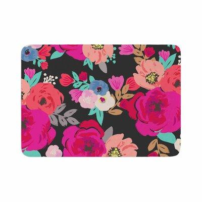 Crystal Walen Sweet Pea Floral Memory Foam Bath Rug Size: 0.5 H x 24 W x 36 D