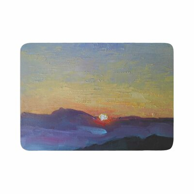 Carol Schiff Mountain Sunset Memory Foam Bath Rug Size: 0.5 H x 17 W x 24 D