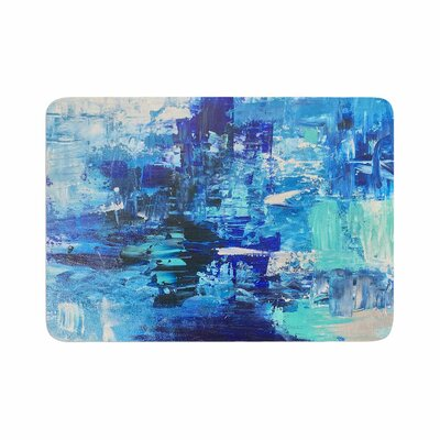 Geordanna Fields Walked on Water Abstract Memory Foam Bath Rug Size: 0.5 H x 24 W x 36 D