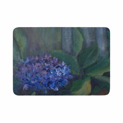Cyndi Steen Hydrangea Floral Memory Foam Bath Rug Size: 0.5 H x 24 W x 36 D