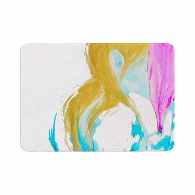 Cecibd Empty Watercolor People Memory Foam Bath Rug Size: 0.5 H x 17 W x 24 D