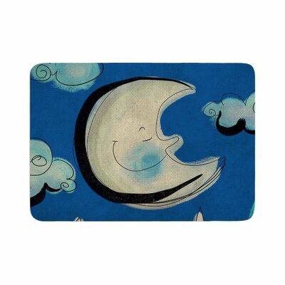 Carina Povarchik Moon Memory Foam Bath Rug Size: 0.5 H x 24 W x 36 D