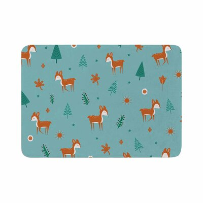 Cristina bianco Design Cute Deer Pattern Kids Memory Foam Bath Rug Size: 0.5 H x 17 W x 24 D