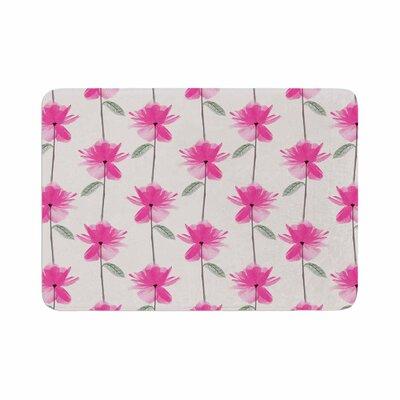 DLKG Design XRay Petals Modern Digital Memory Foam Bath Rug Size: 0.5 H x 24 W x 36 D