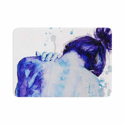 Cecibd Watercolor Memory Foam Bath Rug Size: 0.5 H x 17 W x 24 D