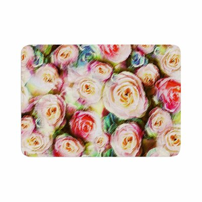 Dawid Roc Rose Romantic Gifts Photography Memory Foam Bath Rug Size: 0.5 H x 17 W x 24 D