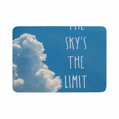Bruce Stanfield the Skys the Limit Square Typography Memory Foam Bath Rug Size: 0.5 H x 24 W x 36 D