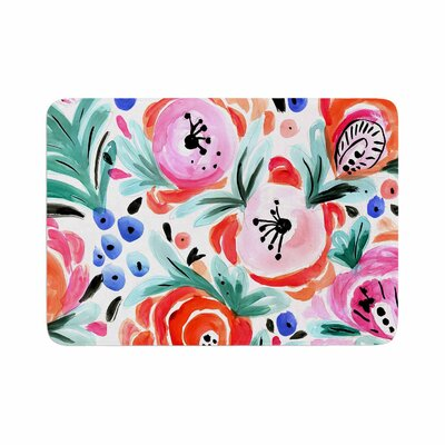 Crystal Walen Boho Morning Glory Memory Foam Bath Rug Size: 0.5 H x 24 W x 36 D