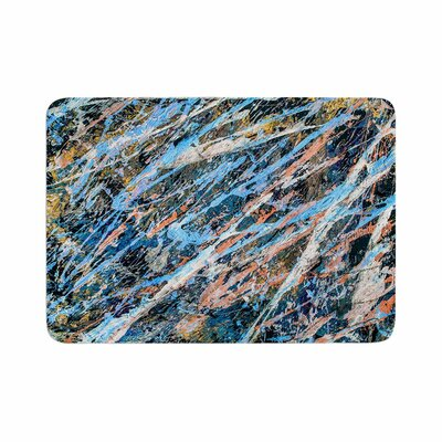 Bruce Stanfield Cobalt One Abstract Memory Foam Bath Rug Size: 0.5 H x 24 W x 36 D