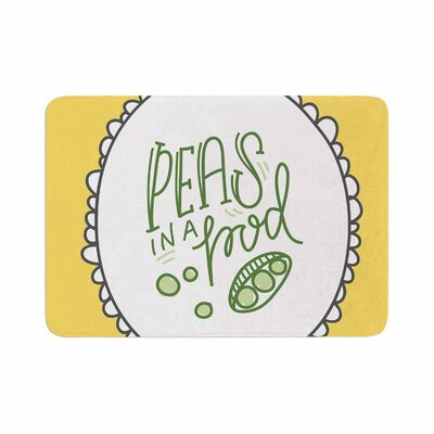 Busy Bree Peas in a Pod Memory Foam Bath Rug Size: 0.5 H x 24 W x 36 D
