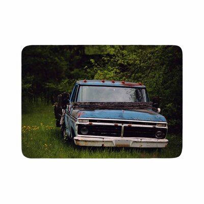 Angie Turner Old Ford Truck Digital Memory Foam Bath Rug Size: 0.5 H x 17 W x 24 D