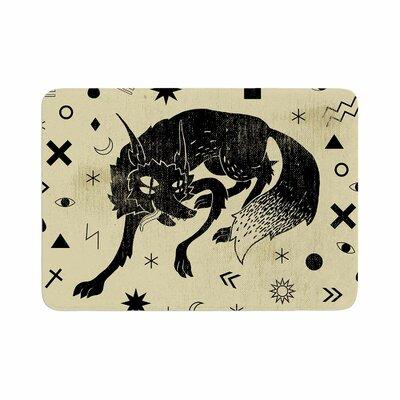 Anya Volk Wolf Illustration Memory Foam Bath Rug Size: 0.5 H x 17 W x 24 D