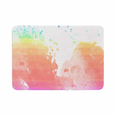 Color Splatter Watercolor Memory Foam Bath Rug Size: 0.5 H x 24 W x 36 D