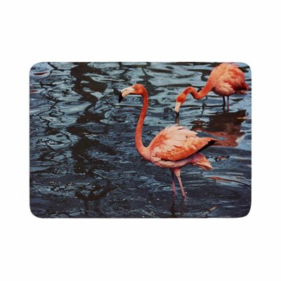 Angie Turner Flamingo Animals Memory Foam Bath Rug Size: 0.5 H x 17 W x 24 D