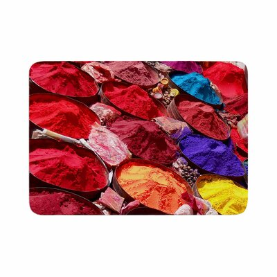 Carina Povarchik Indian Powders Photography Memory Foam Bath Rug Size: 0.5 H x 17 W x 24 D