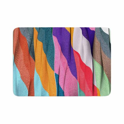 Danny Ivan Timeless Texture Stripes Memory Foam Bath Rug Size: 0.5 H x 17 W x 24 D