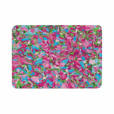 Empire Ruhl Abstract Spring Petals Memory Foam Bath Rug Size: 0.5 H x 17 W x 24 D