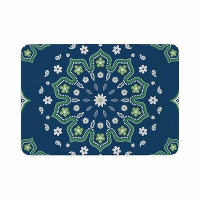 Cristina Bianco Design Mandala Design Memory Foam Bath Rug Size: 0.5 H x 17 W x 24 D