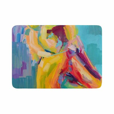 Cecibd Abstract Memory Foam Bath Rug Size: 0.5 H x 17 W x 24 D