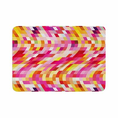 Dawid Roc Colorful Geometric Movement 2 Geometric Memory Foam Bath Rug Size: 0.5 H x 17 W x 24 D