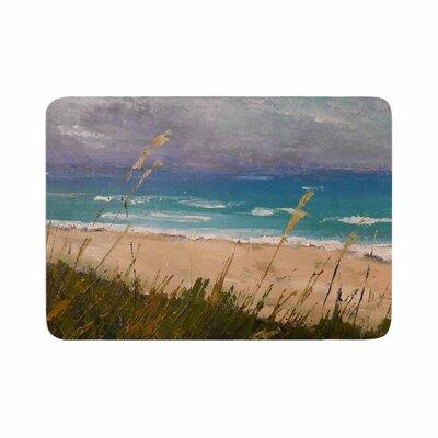 Carol Schiff Florida Beach Scene Coastal Memory Foam Bath Rug Size: 0.5 H x 24 W x 36 D