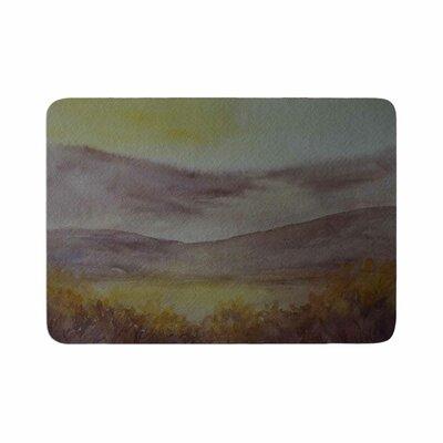 Cyndi Steen Mauve Sunset Memory Foam Bath Rug Size: 0.5 H x 17 W x 24 D