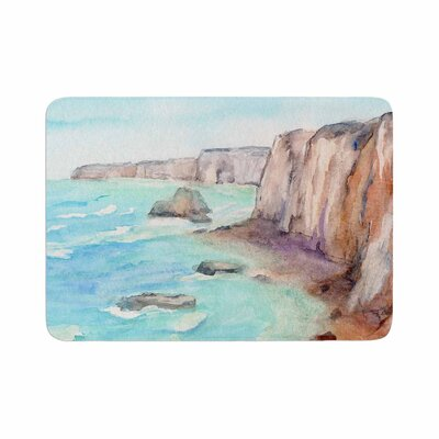 Cyndi Steen Cliffs at Normandie Travel Memory Foam Bath Rug Size: 0.5 H x 17 W x 24 D
