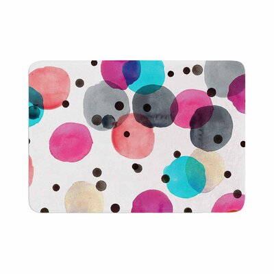Crystal Walen Festive Watercolor Dots Memory Foam Bath Rug Size: 0.5 H x 17 W x 24 D