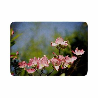 Angie Turner Dogwood Digital Floral Memory Foam Bath Rug Size: 0.5 H x 17 W x 24 D