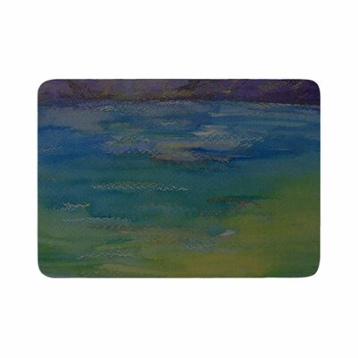 Cyndi Steen Mountains Memory Foam Bath Rug Size: 0.5 H x 17 W x 24 D