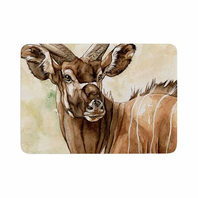 Wildlife Africa 1 Animals Memory Foam Bath Rug Size: 0.5 H x 17 W x 24 D