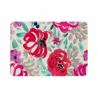 Crystal Walen Mona Brush Stroke Floral Painting Memory Foam Bath Rug Size: 0.5 H x 24 W x 36 D