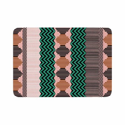 Akwaflorell Knitted 2 Pattern Memory Foam Bath Rug Size: 0.5