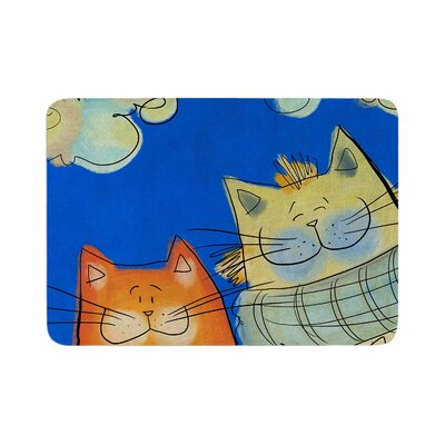 Carina Povarchik Happy Cats in the City Memory Foam Bath Rug Size: 0.5 H x 24 W x 36 D