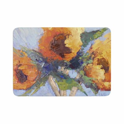 Carol Schiff Sunflower Trio Floral Memory Foam Bath Rug Size: 0.5 H x 24 W x 36 D