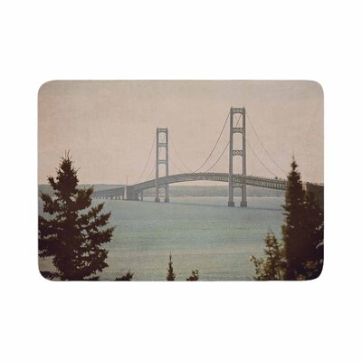 Angie Turner Mackinac Bridge Travel Memory Foam Bath Rug Size: 0.5 H x 17 W x 24 D
