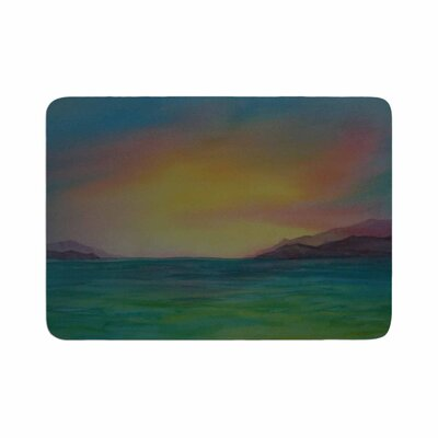 Cyndi Steen Christys Island Watercolor Memory Foam Bath Rug Size: 0.5 H x 17 W x 24 D