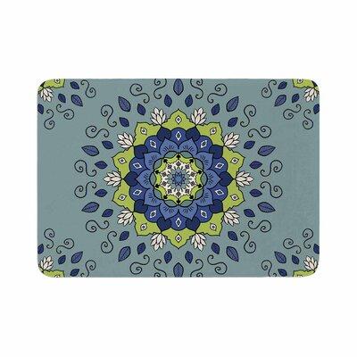 Cristina Bianco Design Mandala Geometric Memory Foam Bath Rug Size: 0.5 H x 17 W x 24 D
