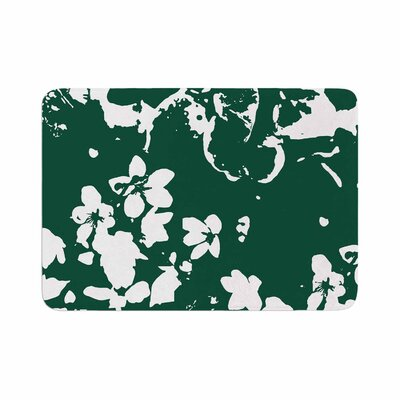 Love Midge Helena Floral Abstract Memory Foam Bath Rug Size: 0.5 H x 24 W x 36 D