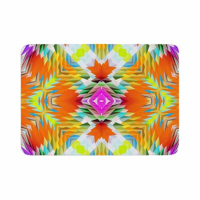 Dawid Roc Colorful Tribal Mosaic Tribal Memory Foam Bath Rug Size: 0.5 H x 17 W x 24 D