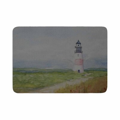 Cyndi Steen Sankaty Lighthouse Memory Foam Bath Rug Size: 0.5 H x 17 W x 24 D